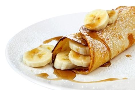 Panquecas com creme de banana